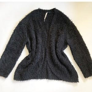Kensie Fuzzy Teddy Bear Cardigan Sweater